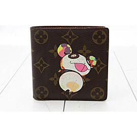 Louis Vuitton Limited Rare Panda Bifold Wallet Multiple Slender Marco 860566