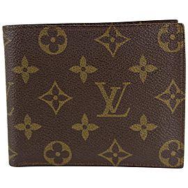Louis Vuitton Monogram Multiple Slender Marco Florin Men's Bifold Wallet 17LVS1211