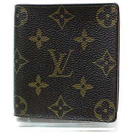 Louis Vuitton Monogram Wallet Porte Billets Carte Multiple Florin Slender 860418