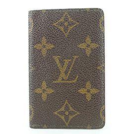 Louis Vuitton Monogram Porte Cartes Card Holder Wallet Case 55lvs115