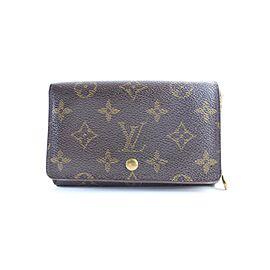Louis Vuitton Brown Tresor Porte Monogram Porte-monnaie 20lr0605 Wallet
