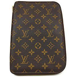 Louis Vuitton Large Monogram Zip Around Organizer Cluch Bag 862923