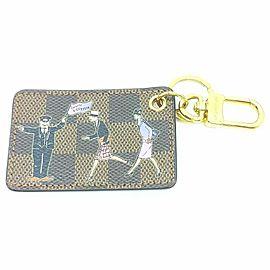 Louis Vuitton Rare Limited Edition Damier Ebene Keychain Bag Charm 860653