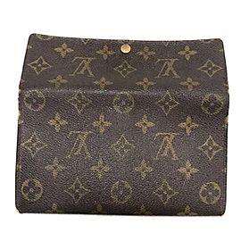Louis Vuitton Brown Sarah Monogram Bifold 231481 Wallet