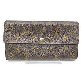 Louis Vuitton Monogra Long Sarah Wallet Pochette Monnaie Credit Porte Tresor 861587