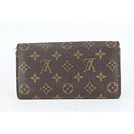 Louis Vuitton Monogram Bifold Long Sarah Wallet Porte Tresor 130lvs76