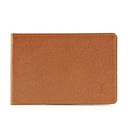 Louis Vuitton Brown Taiga Leather Card Holder Wallet Case 8lvm128