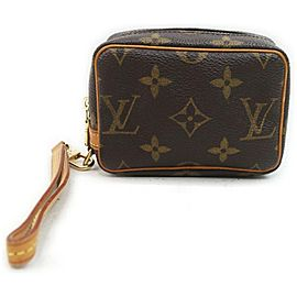 Louis Vuitton Monogram Trousse Wapity Pouch Wristlet Cosmetic Toiletry Bag