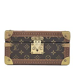 Louis Vuitton Rare Conffret Tresor 24 Monogram Box Jewelry Boite Trunk Case 1LA419