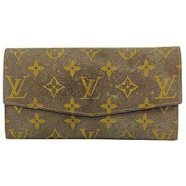 Louis Vuitton Vintage Monogram Pointed Flap Wallet Porte Tresor Sarah 9LVL1127