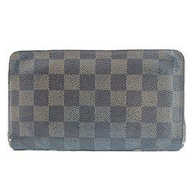 Louis Vuitton 12LK0120 Damier Ebene Zippy Wallet Long Zip Around