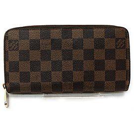 Louis Vuitton Damier Ebene Zippy Wallet Long Zip Around 862874
