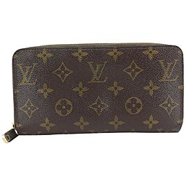 Louis Vuitton Monogram Zippy Wallet Long Zip Around 694lvs621