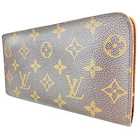 Louis Vuitton Monogram Zippy Wallet Long Zip Around Continental 13LVL1125