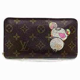 Louis Vuitton Monogram Panda Murakami Long Zippy Wallet Porte Monnaie Zippe 872895