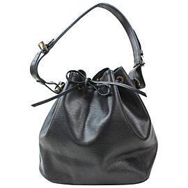 Louis Vuitton Noir Petit Noe Drawstring Bucket Hobo 8691977