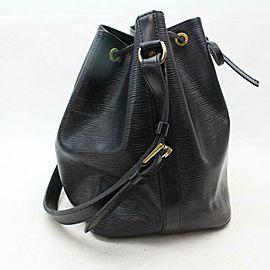 Louis Vuitton Bucket Hobo Noir Petit Noe Drawstring 870849 Black Epi Leather Shoulder Bag