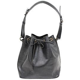 Louis Vuitton Black Epi Leather Petit Noe Drawstring bucket Hobo 8651816