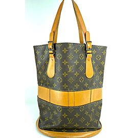 Louis Vuitton Bucket Marais Monogram Gm French Co Usa 9lva724 Brown Coated Canvas Tote