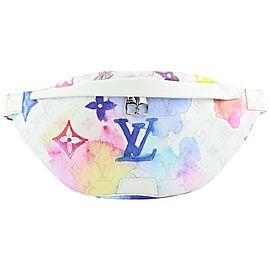 Louis Vuitton Multicolor White Watercolor Monogram Bumbag Fanny Waist Pouch 311lv517