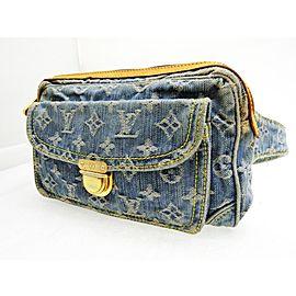 Louis Vuitton Bumbag Ultra Rare Monogram 227925 Blue Denim Cross Body Bag