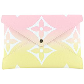 Louis Vuitton Pink x Yellow Large By the Pool Kirigami GM Envelope Pouch Bag 801lvs4