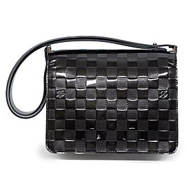 Louis Vuitton Cabaret Club Limited Edition Black Damier Vernis 239246 Noir Patent Leather Shoulder Bag