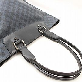 Louis Vuitton Cabas Cobalt Graphite 871416 Navy Blue Damier Tote