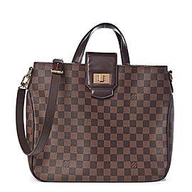 Louis Vuitton Cabas Damier Ebene Rosebery 8lk0106 Brown Coated Canvas Shoulder Bag