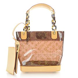Louis Vuitton Clear Cabas Sac Ambre PM Translucent Tote Bag with Pouch 863158