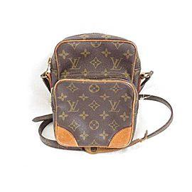 Louis Vuitton Camera Amazon Monogram 233962 Brown Coated Canvas Shoulder Bag