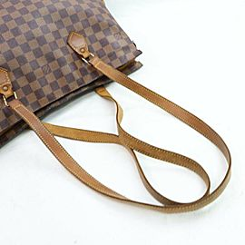 Louis Vuitton Centenaire Anniversary Damier Columbine 871839 Brown Coated Canvas Tote