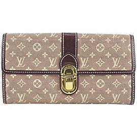 Louis Vuitton Cerise Monogram Mini Lin Sarah Long Wallet 138lvs429