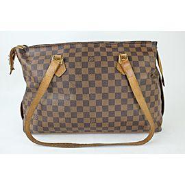 Louis Vuitton Chelsea Ebene Columbine Zip Tote 905lk6 Damier Canvas Shoulder Bag