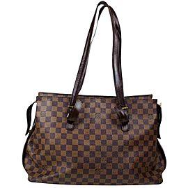 Louis Vuitton Damier Ebene Chelsea Zip Tote 860978