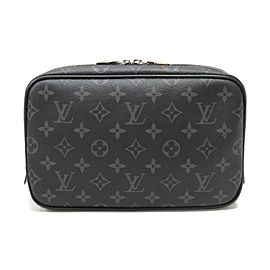 Louis Vuitton Black Monogram Eclipse Trousse Toilette PM Cosmetic Case 861825