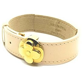 Louis Vuitton Cream Good Luck Fleur Bracelet Cuff Bangle 861585