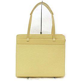 Louis Vuitton Croisette Pm Vanilla Zip 872570 Cream Epi Leather Tote