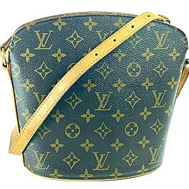 Louis Vuitton Crossbody Drouot Monogram 7la523 Brown Coated Canvas Messenger Bag