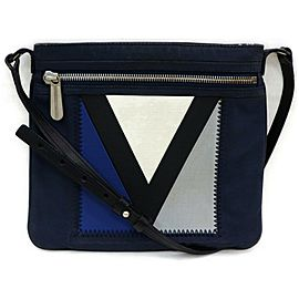 Louis Vuitton Crossbody Genois Lv Cup Genoa Marine Blue872436 Navy Blue Canvas Shoulder Bag