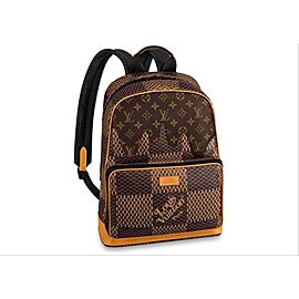 Louis Vuitton Damier Ebene Geant Nigo Campus Backpack Rare Runway Drip Melt 860730