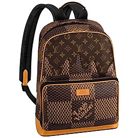 Louis Vuitton Damier Ebene Nigo Campus Backpack Rare Runway Drip Melt 860471