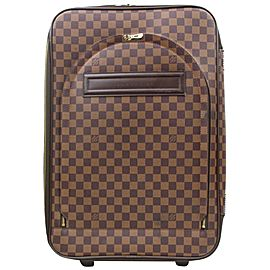 Louis Vuitton Damier Ebene Pegase 60 Rolling Luggage Trolley 870570 Brown Coated Canvas Weekend/Travel Bag