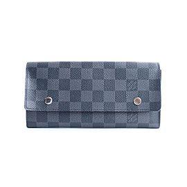 Louis Vuitton Damier Graphite Long Modulable Flap Wallet 19lr0307 Black Coated Canvas Clutch