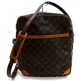 Louis Vuitton Danube Extra Large Monogram Gm 871699 Brown Coated Canvas Shoulder Bag