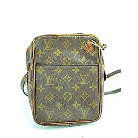 Louis Vuitton Danube Monogram 18lva624 Brown Coated Canvas Cross Body Bag