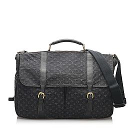 Louis Vuitton Navy Blue Monogram Mini Lin Denise Messenger 860378