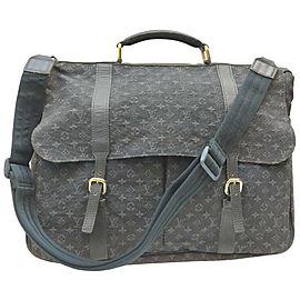 Louis Vuitton Navy Monogram Mini Lin Denise Diaper Baby Bag 863011