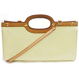 Louis Vuitton Drive Roxbury Perle 2way with Strap 871833 Cream Monogram Vernis Leather Shoulder Bag