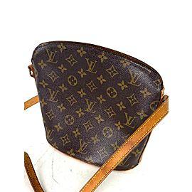 Louis Vuitton Drouot Monogram 4lva621 Brown Coated Canvas Cross Body Bag